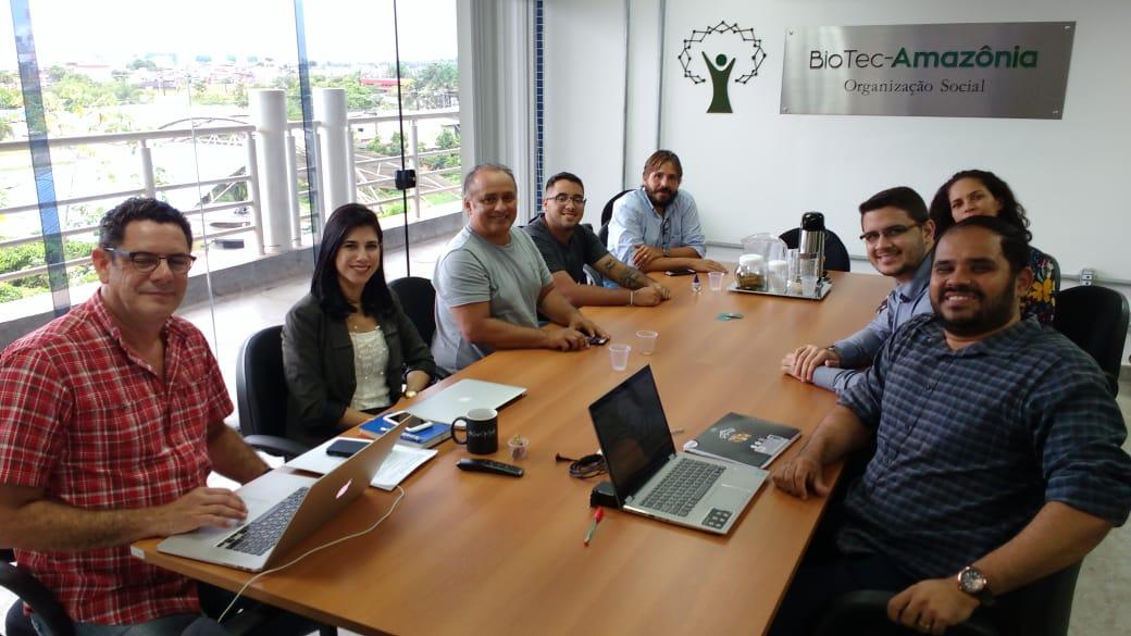 Grupo de produtores de açaí participa de encontro na BioTec-Amazônia