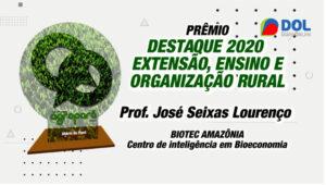 Prof. José Seixas Lourenço ganha Troféu Agropará
